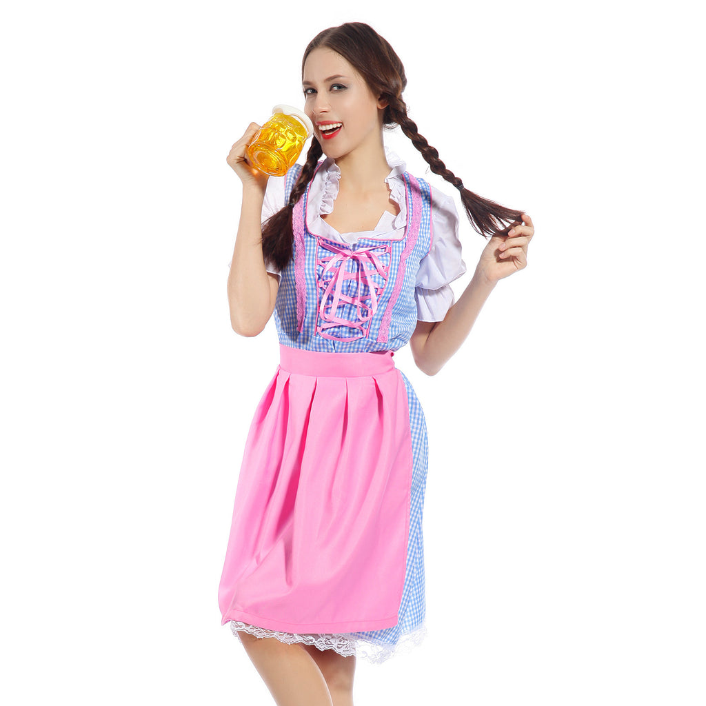 Oktoberfest Beer Maid Wench German Bavarian Dirndl Heidi Fancy Dress