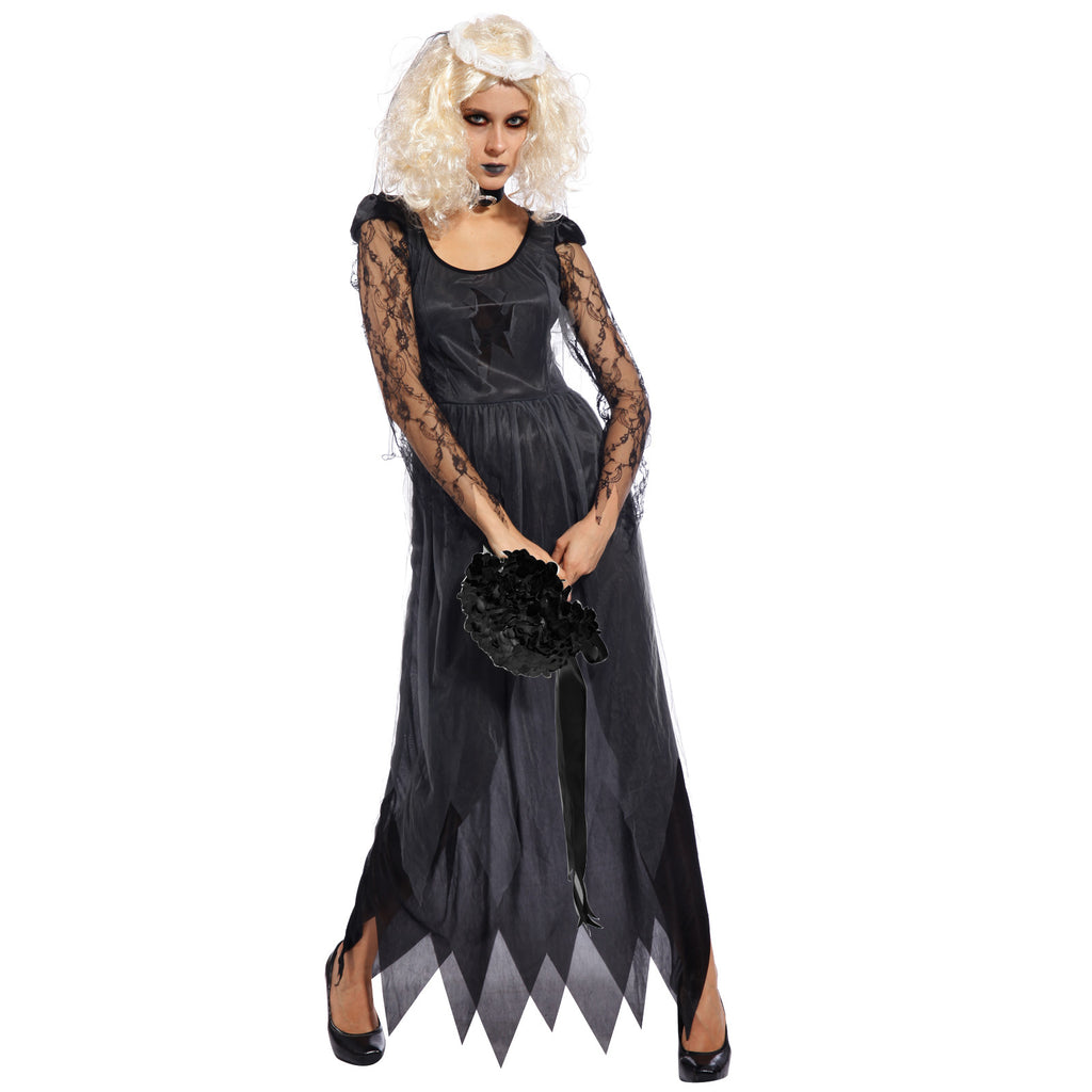 Ladies Ghost Bride Horror Fancy Dress