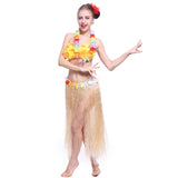Long Hawaiian Grass Hula Skirt
