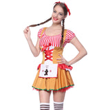 Ladies Sexy Gingerbread Halloween Carnival Xmas Mini Fancy Dress