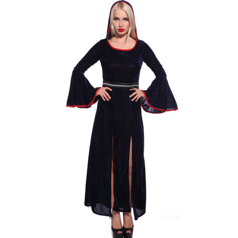 Gothic Ladies Medieval Hooded Fancy Dress