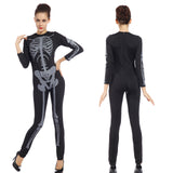 Women Skeleton Bodysuit Bones X-Ray Fancy Dress