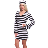 Jail Prisoner Costume For Woman-EU