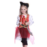 Girls Pirate Captain Fancy Dress Red
