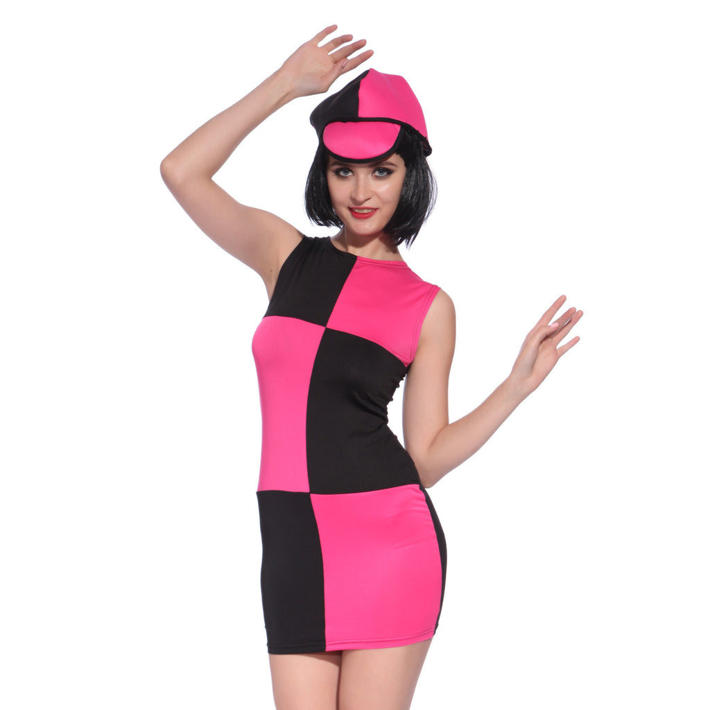 Miss Mod Go Go Disco Pink Fancy Dress