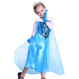 Girls Frozen Princess Elsa Costume