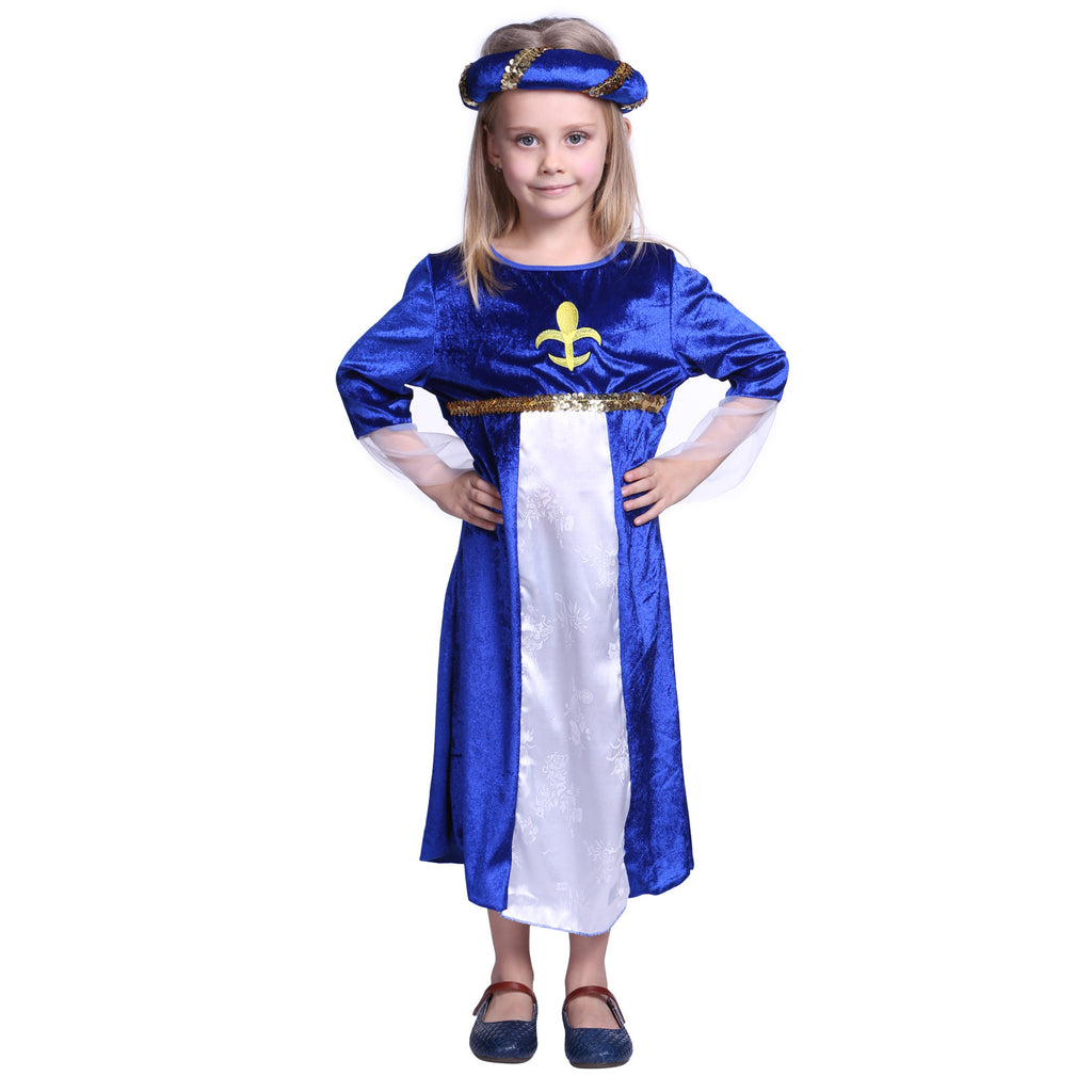 Kid Girls Costume Tudor Royal Princess Dress