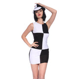 Miss Mod Go Go Disco White Fancy Dress