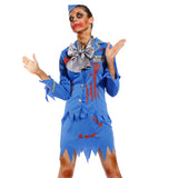 Ladies Zombie Air Cabin Hostess Stewardess Costume