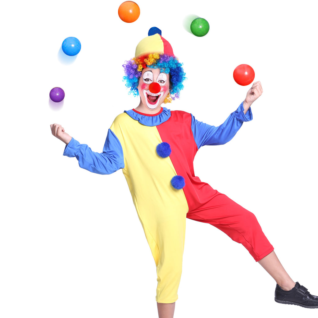 Kids Child Circus Clown Fancy Dress