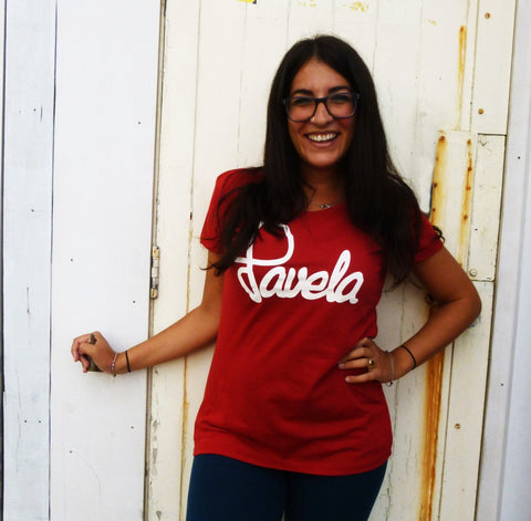 Favela Red Logo Womens