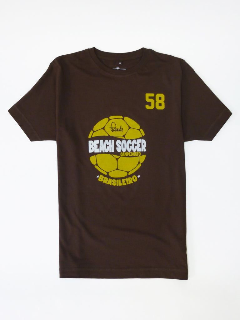 Beach Soccer Brasil Football T-Shirt - Cocoa Brown