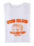 Dub Club Favela Surf Tours T Shirt Folded - White