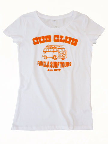 Dub Club Favela Surf Tours T-Shirt - Womens