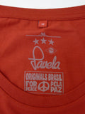 Favela Logo Tee Neck Label - Carnival Red