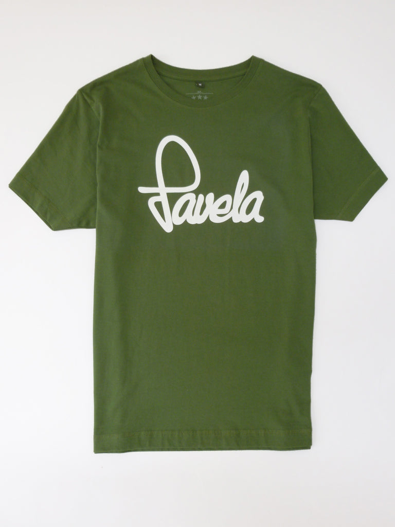 Favela Mens Logo T Shirt - Amazon Green