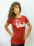 Favela Ladies Logo T Shirt 1 - Carnival Red