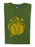 Palm Tree T-Shirt Folded - Amazon Green