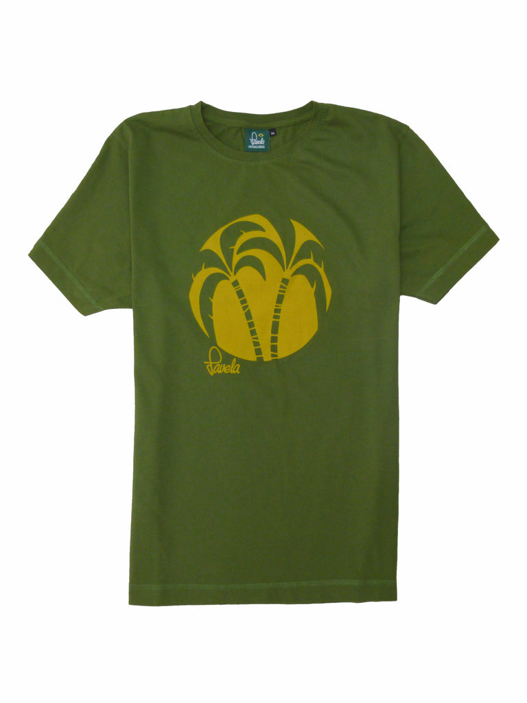 Palm Tree T-Shirt - Amazon Green