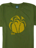 Palm Tree T-Shirt Crop - Amazon Green