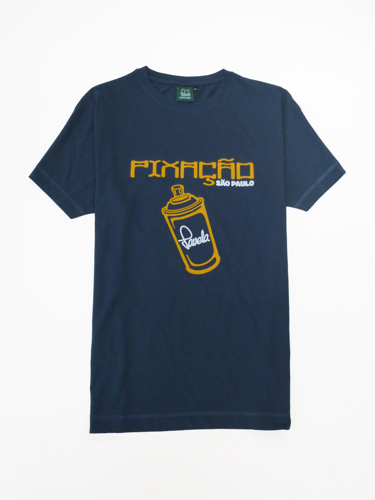 Pixacao Graffiti T-Shirt - Samba Blue