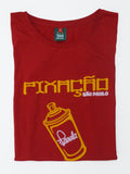 Pixacao Graffiti T-Shirt Folded - Carnival Red - Womens