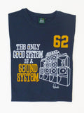 Sound System T-Shirt Folded - Samba Blue