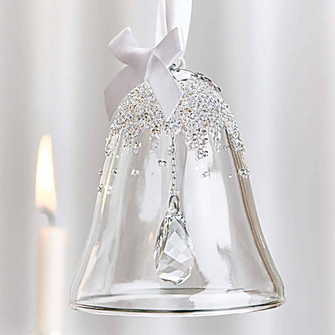 The limited edition hand-blown glass bell is a Swarovski first. Covered with hundreds of sparkling tiny crystals it is the perfect addition to your Christmas Tree.