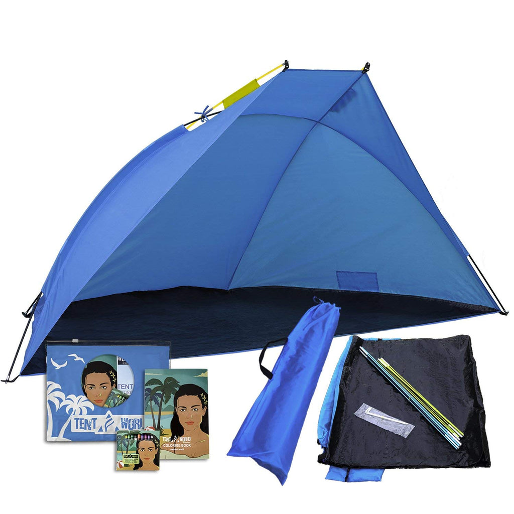 Beach Shade Shelter Mars, 2 - 3 Person Anti UV Tent: Enjoy the Outdoors With Comfort! Rain, Breeze & Sun Canopy for Babies, Kids & Adults. Easy Up Backyard, Park, Garden, Picnic, & Sport Events Cabana