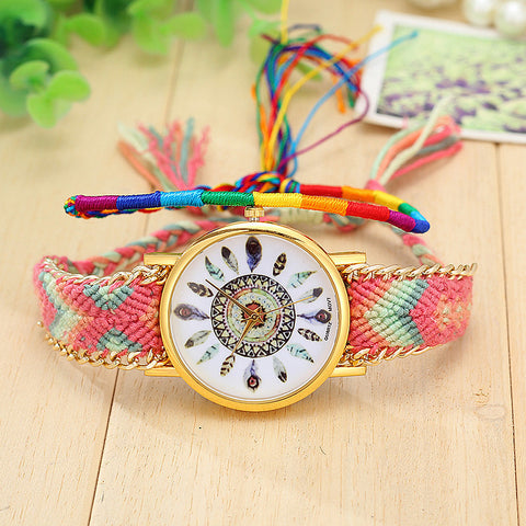 Feather Print Watch - CuteMade