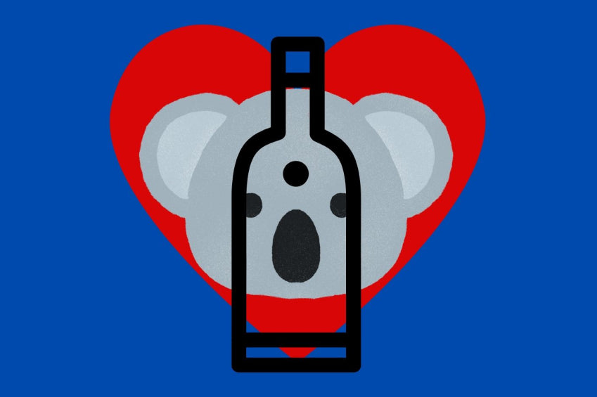 koala wine iconography for australia bushfire aid wine tasting event