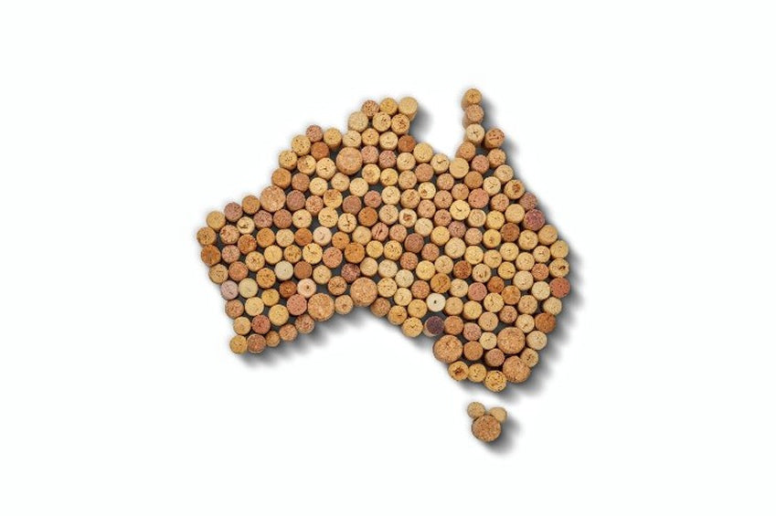 australia map from corks