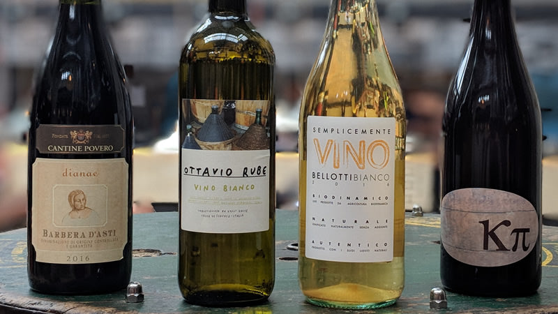 Bottles of Natural Wines