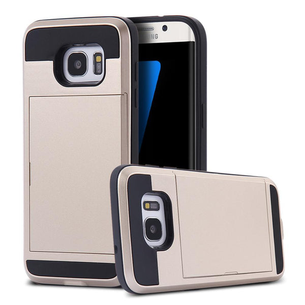 Phone Case - Armour Card Holder Case For Samsung