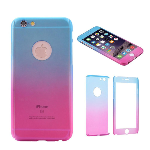 Phone Case - Colorful 360 Degree Protective Case For IPhone