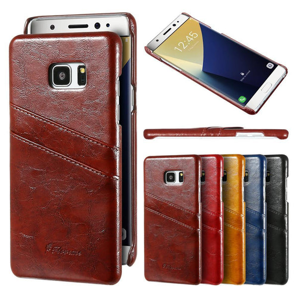 Phone Case - Retro Soft PU Leather Case For Samsung