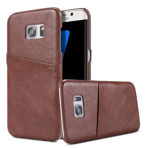 Phone Case - Vintage Imitate Leather Case For Galaxy S7 /S7 Edge With Card Holder