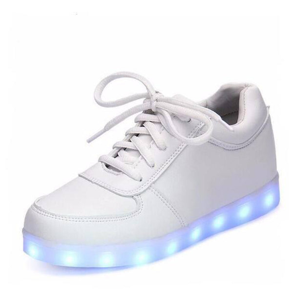 Shoes - White B366 Rechargeable Simulation Led Shoes