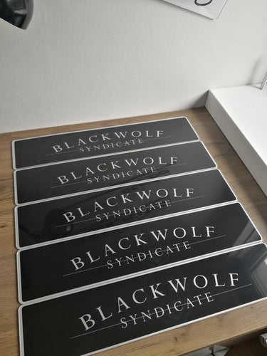 Black Wolf Syndicate Limited Edition Show Plates *BLEMISHED*