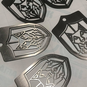 Black Wolf Syndicate Shield Emblem - Laser Cut Metal - Limited Edition