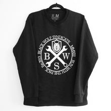 Load image into Gallery viewer, Black Wolf Syndicate Spanners Crew-neck Sweatshirt