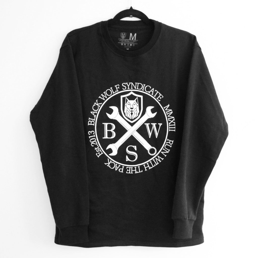 Black Wolf Syndicate Spanners Crew-neck Sweatshirt