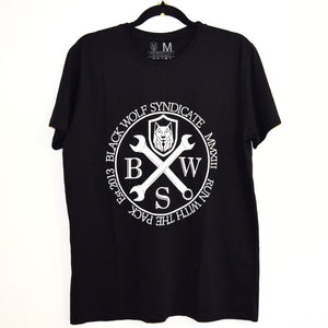 Black Wolf Spanners T-Shirt (short sleeve/ black or white)