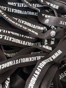 Black Wolf Syndicate Lanyard (black & grey)