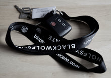 Load image into Gallery viewer, Black Wolf Syndicate Lanyard (black & grey)