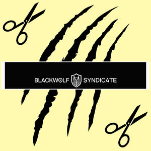 Black Wolf Syndicate & Shield Logo Cut-Away Sun Strip (20+ colour options)