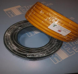 Garden Water Hose Pipe (Flexible) PVC Yellow and Green. 30m coils.