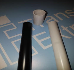 20mm White/Black Plastic UPVC Conduit -30m Packs (10 x 3m lengths) - UK Manufactured