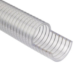 Clear PVC-Wire Reinforced Suction and Delivery Hose-UK Manufactured