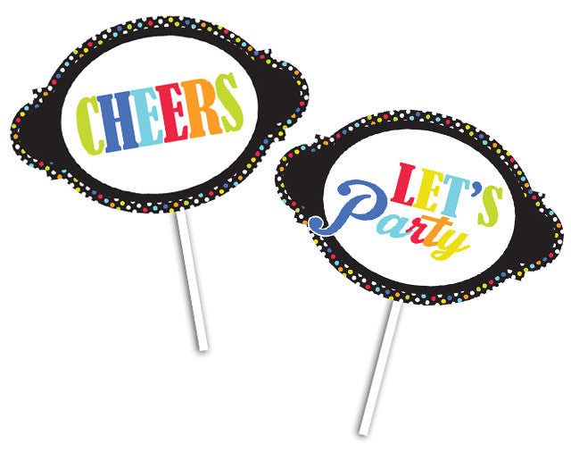 Black Birthday Props -2 pack